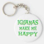 Las iguanas me hacen feliz llavero