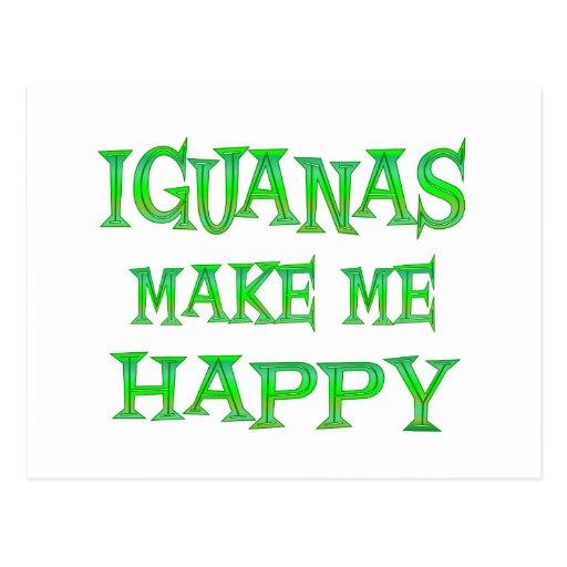 Las iguanas me hacen feliz postal