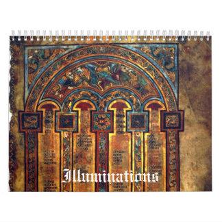 Las iluminaciones - fije sus propias fechas calendarios de pared