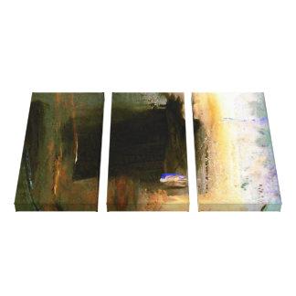 Las ilustraciones abstractas envolvieron 3 lonas f impresión en lona estirada