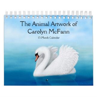 Las ilustraciones animales del calendario de