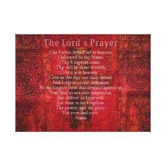 Las ilustraciones bíblicas del texto de Prayer del Impresiones En Lienzo Estiradas