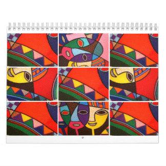 Las ilustraciones de Egbune Cheche Harold Calendarios