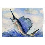 Las ilustraciones que ganan de los niños: pez vola felicitación