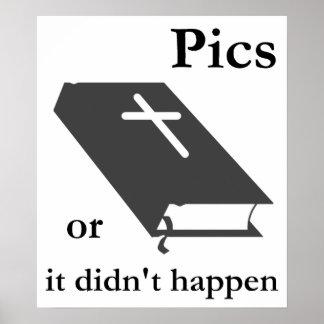 Las imágenes o la biblia no sucedieron posters