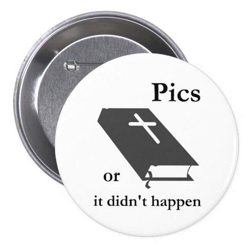 Las imágenes o la biblia no sucedieron pin