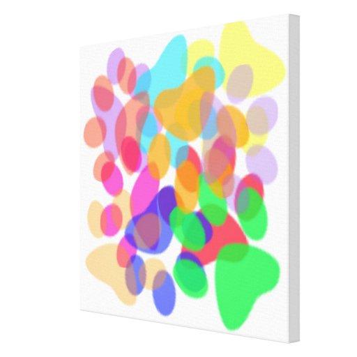 Las impresiones abstractas de la pata envolvieron  impresion de lienzo