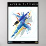 Las impresiones del poster del lanzador de jabalin