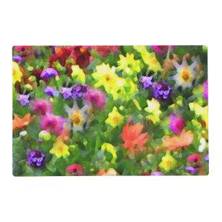 Las impresiones florales del jardín laminaron salvamanteles