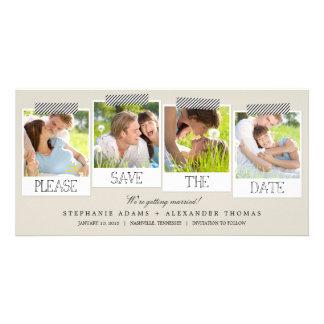 Las impresiones polaroid ahorran las tarjetas de l plantilla para tarjeta de foto