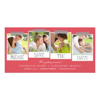 Las impresiones polaroid ahorran las tarjetas de tarjeta fotografica personalizada