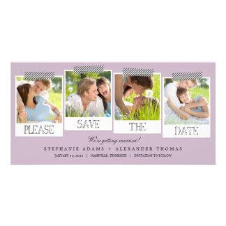 Las impresiones polaroid ahorran las tarjetas de tarjeta fotográfica personalizada