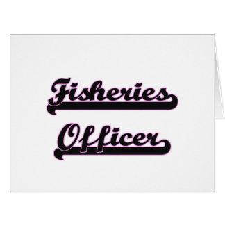 Las industrias pesqueras mandan sistema de trabajo tarjeta de felicitación grande