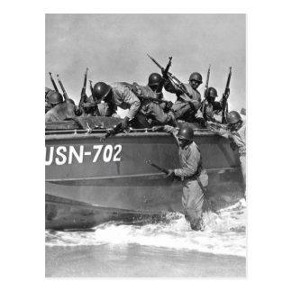 Las ingenieros des infanteria de marina del negro, postal
