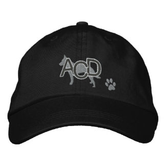Las iniciales australianas del perro del ganado bo gorra de beisbol
