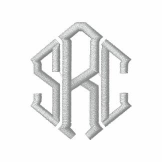Las iniciales elegantes del monograma bordaron la