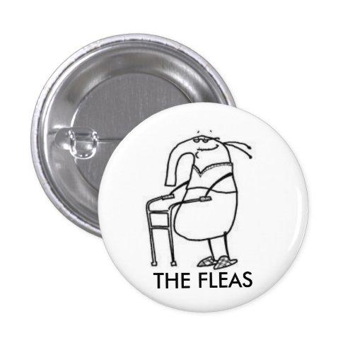 Las insignias del botón de las pulgas pin