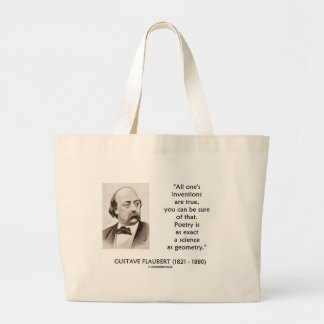 Las invenciones de Gustave Flaubert verdad ciencia Bolsa Tela Grande