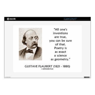 Las invenciones de Gustave Flaubert verdad ciencia 38,1cm Portátil Calcomanía