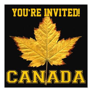 """Las invitaciones de Canadá personalizan el equipo Invitación 5.25"""" X 5.25"""""""