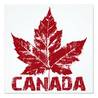 """Las invitaciones de Canadá personalizaron Canadá Invitación 5.25"""" X 5.25"""""""