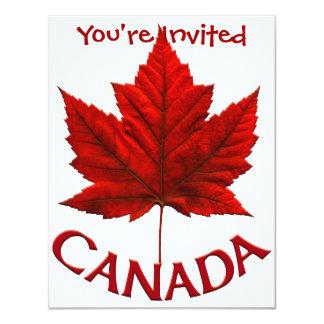 """Las invitaciones de Canadá personalizaron la Invitación 4.25"""" X 5.5"""""""