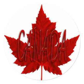 """Las invitaciones de Canadá personalizaron la Invitación 5.25"""" X 5.25"""""""