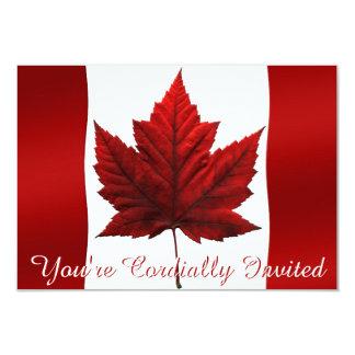"""Las invitaciones de Canadá personalizaron las Invitación 3.5"""" X 5"""""""