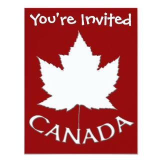 """Las invitaciones de Canadá personalizaron las Invitación 4.25"""" X 5.5"""""""