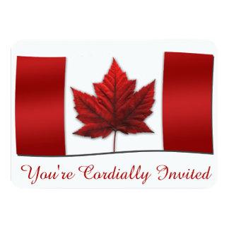 """Las invitaciones de Canadá personalizaron las Invitación 4.5"""" X 6.25"""""""