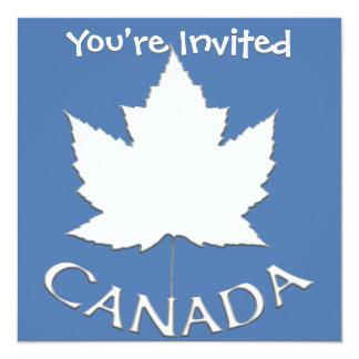 """Las invitaciones de Canadá personalizaron las Invitación 5.25"""" X 5.25"""""""