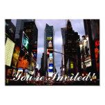 Las invitaciones de Nueva York personalizaron Invitación 8,9 X 12,7 Cm