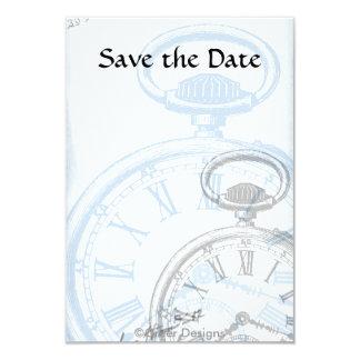 """Las invitaciones de Pocketwatch del tiempo del Invitación 3.5"""" X 5"""""""