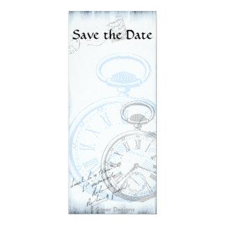 """Las invitaciones de Pocketwatch del tiempo del Invitación 4"""" X 9.25"""""""