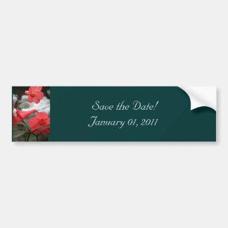 ¡Las invitaciones del boda, ahorran la fecha! Etiqueta De Parachoque