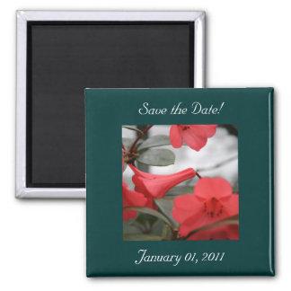 ¡Las invitaciones del boda, ahorran la fecha! Imán Cuadrado