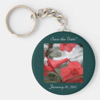 ¡Las invitaciones del boda, ahorran la fecha! Llavero Redondo Tipo Pin