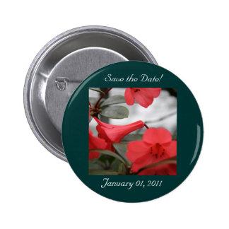 ¡Las invitaciones del boda, ahorran la fecha! Pin Redondo De 2 Pulgadas