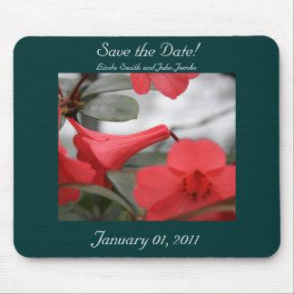 ¡Las invitaciones del boda, ahorran la fecha! Tapetes De Ratón