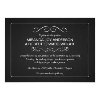 Las invitaciones del boda de la pizarra aclaran y invitación 12,7 x 17,8 cm
