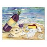 Las invitaciones del fiesta de la playa del vino invitaciones personalizada