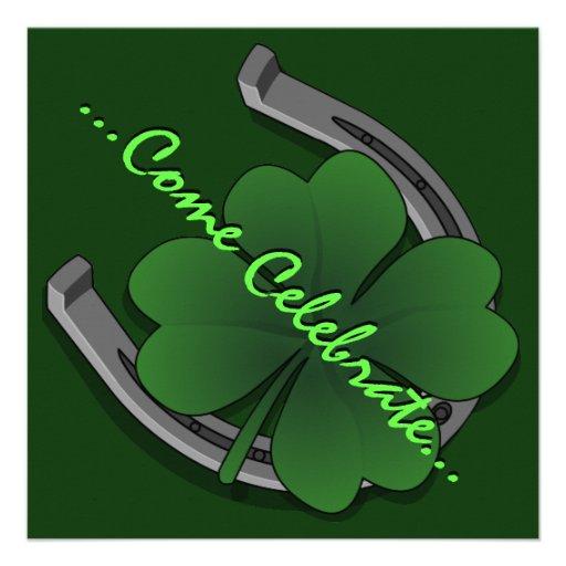 Las invitaciones del fiesta de St Patrick personal Anuncios Personalizados