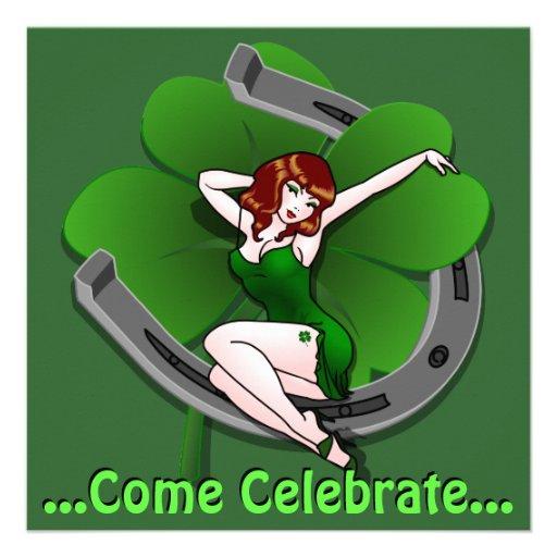 Las invitaciones del fiesta de St Patrick personal Invitaciones Personales