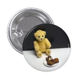 Las invitaciones del oso de peluche pin redondo de 1 pulgada