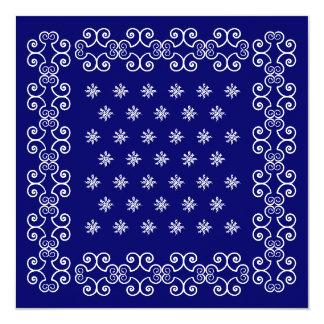 Las invitaciones del pañuelo invitan al fiesta invitación 13,3 cm x 13,3cm