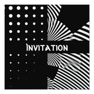"""Las invitaciones negras y el estilo blanco mancha invitación 5.25"""" x 5.25"""""""