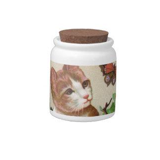 ¡Las invitaciones para el gatito - sacuda para las Plato Para Caramelo