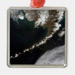 Las islas Aleutian y la península de Alaska Ornamentos De Navidad