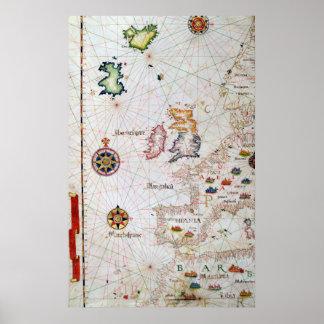 Las islas británicas, el Iberia y la África del no Póster