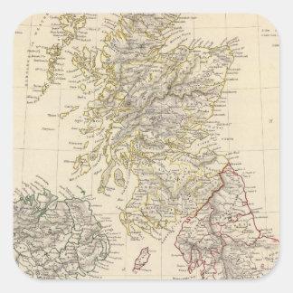 Las islas británicas pegatina cuadrada
